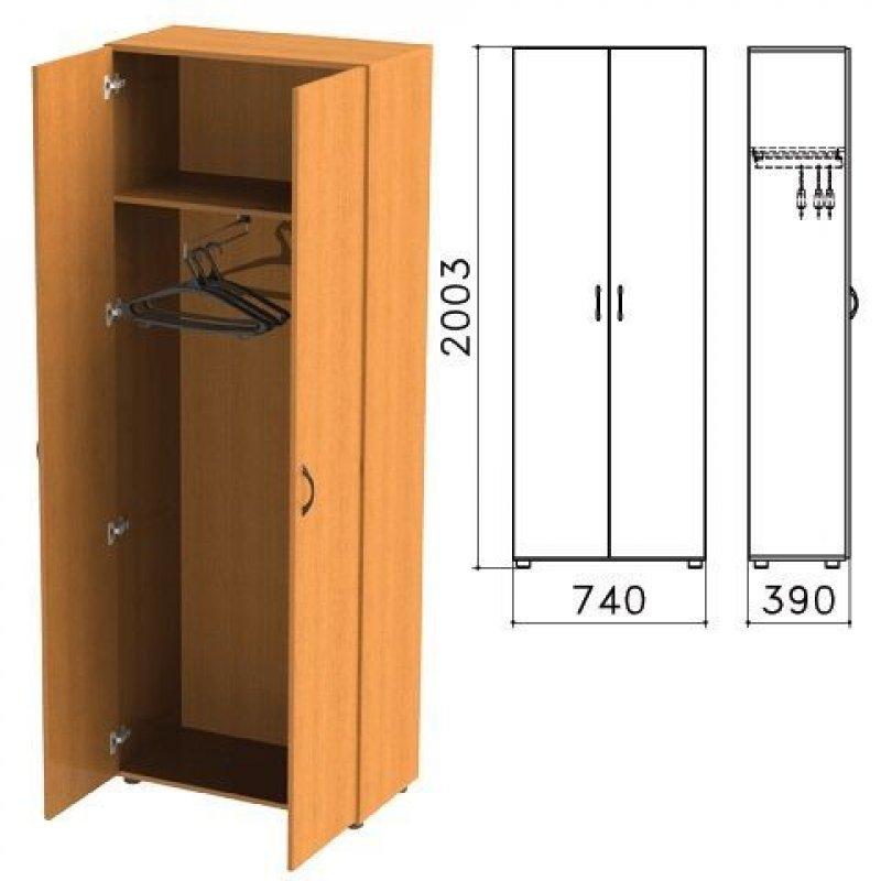 Шкаф для одежды Фея 2000х740х390мм орех