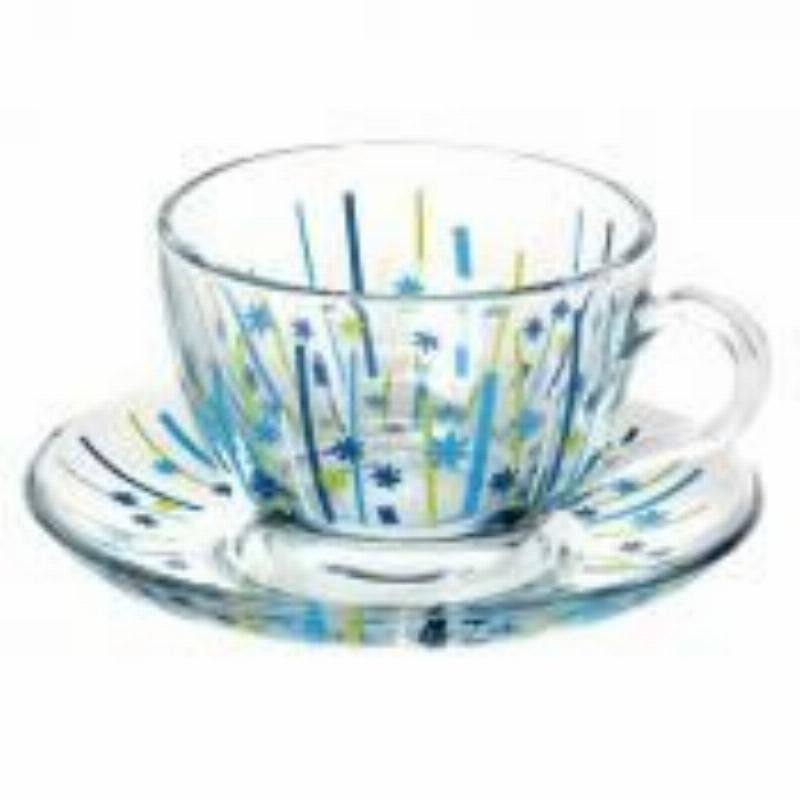 Набор чайный 220мл Бэйсик голубой 12пр Pasabahce стекло