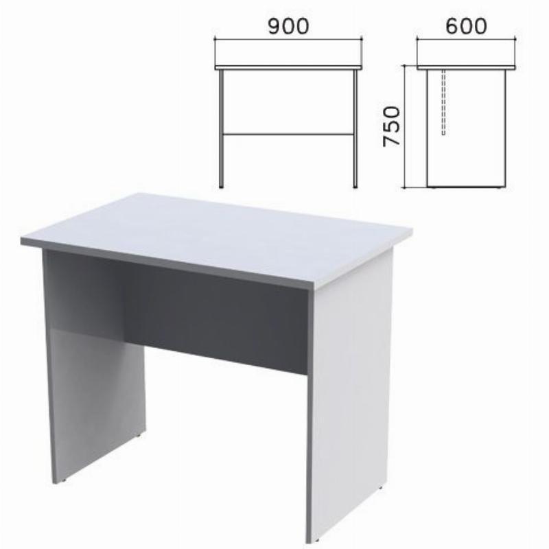 Стол письменный Монолит 900х600х750 мм серый