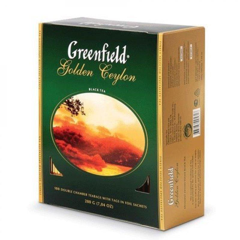 Чай Greenfield Golden Ceylon 100шт в пакетиках черный
