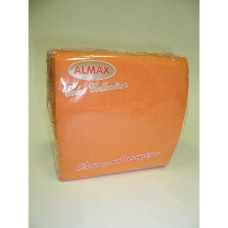 Салфетки 50л Almax Color 24х24см 1сл оранжевые