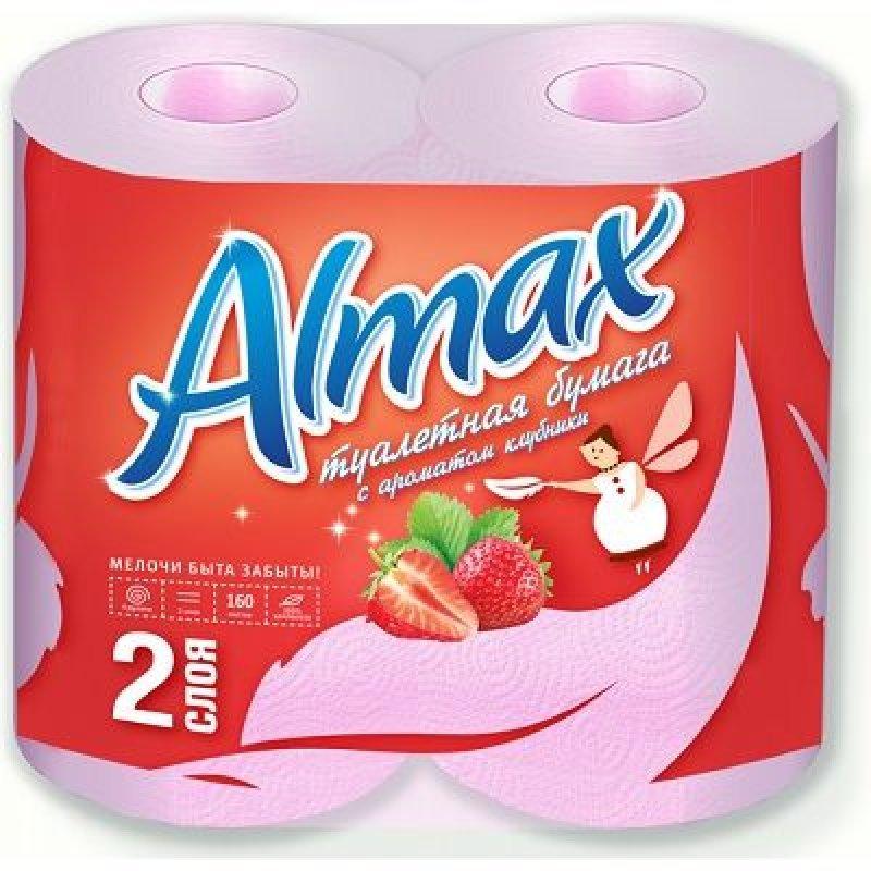 Бумага туалетная Almax 2-сл розовая 4 шт/уп