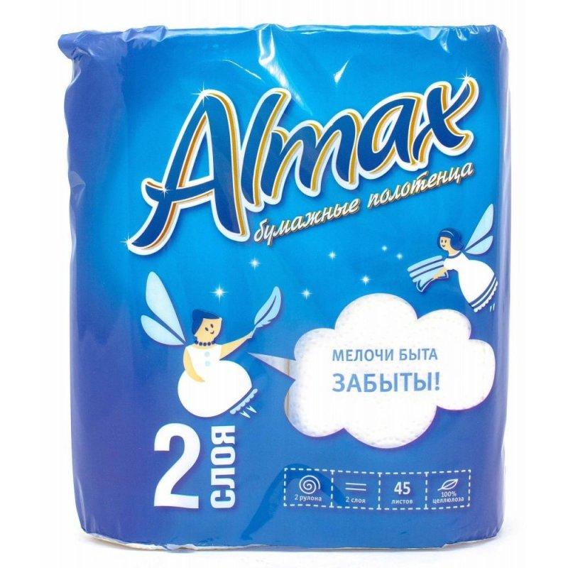 Полотенце бумажное Almax 2-сл 2рул/уп с цветным тиснением