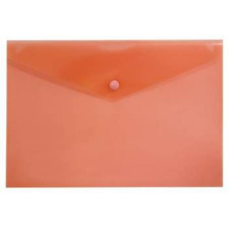 Папка-конверт с кнопкой А4 Бюрократ 0,15мм красная