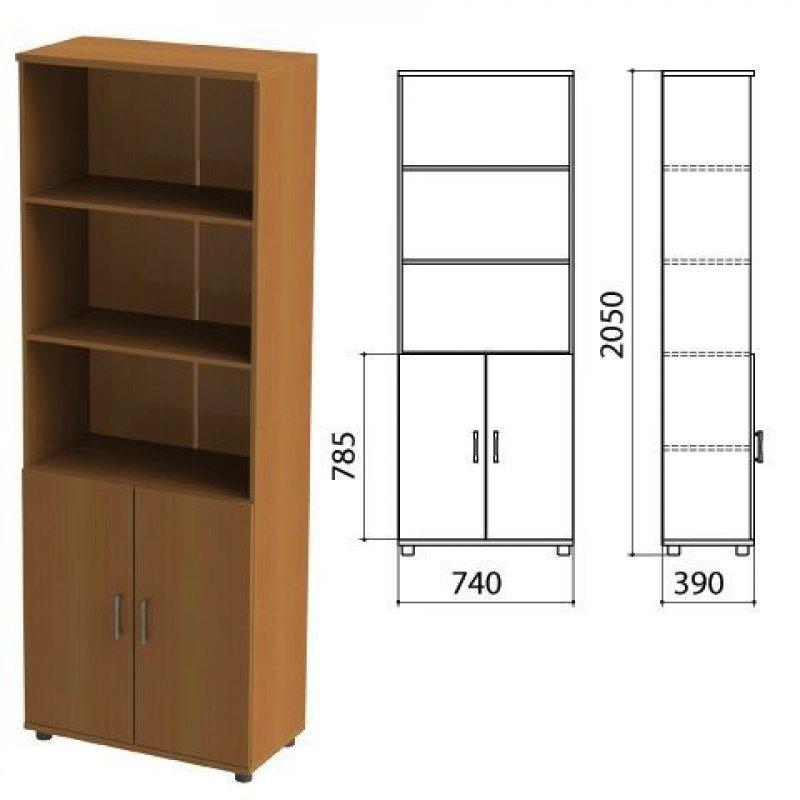 Шкаф полузакрытый Монолит 740х390х2050мм комплект орех