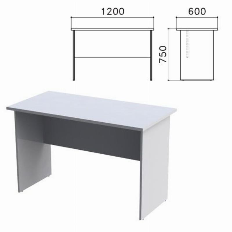 Стол письменный Монолит 1200хг600х750мм серый
