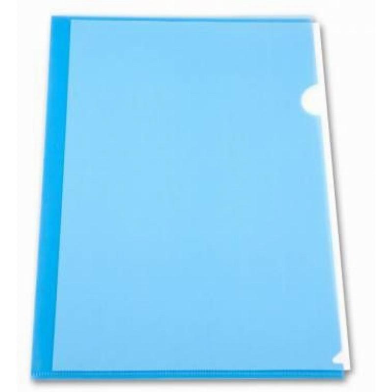 Папка-угол (карман) Бюрократ 0,15мм прозрачная синяя