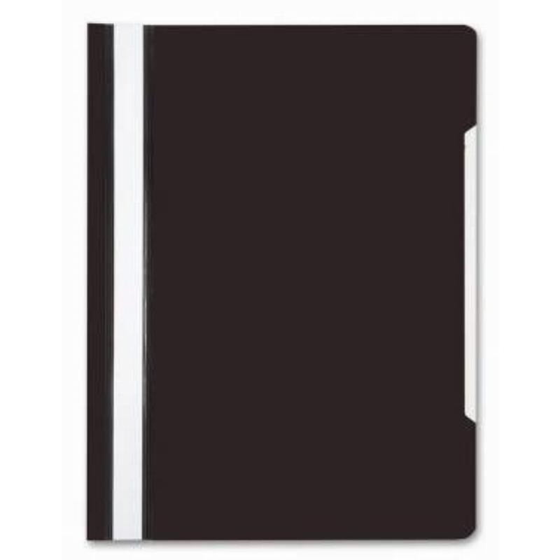 Папка с прозрачным верхним листом Бюрократ 120мкм черная