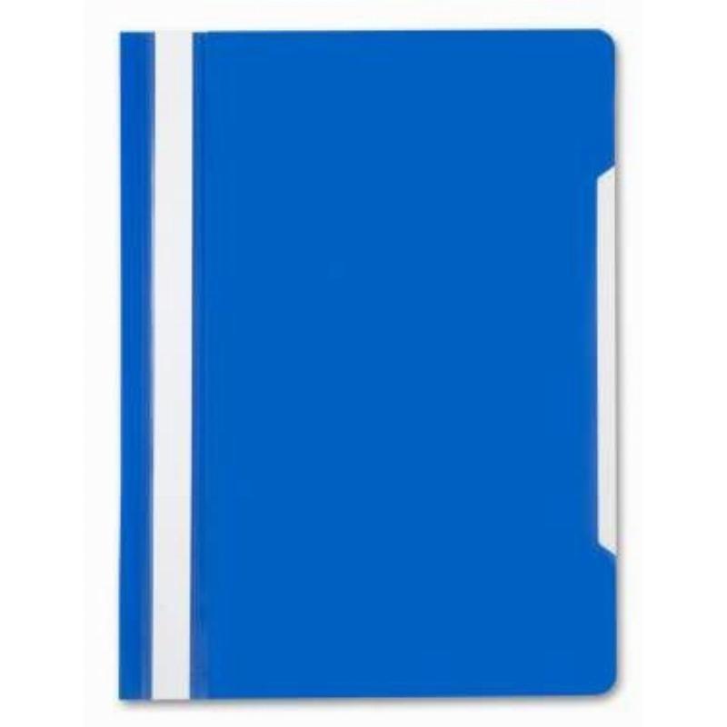 Папка с прозрачным верхним листом Бюрократ 120мкм синяя