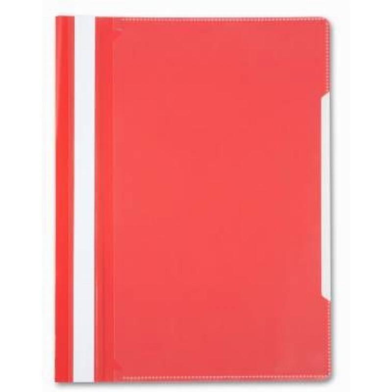 Папка с прозрачным верхним листом Бюрократ 120мкм красная