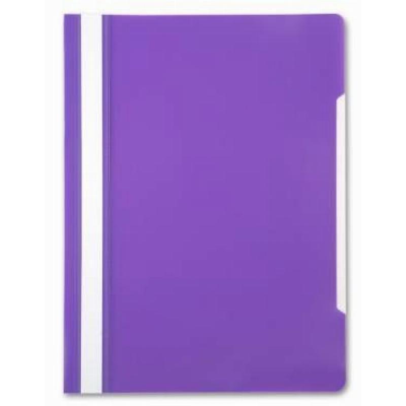Папка с прозрачным верхним листом Бюрократ 120мкм фиолетовая