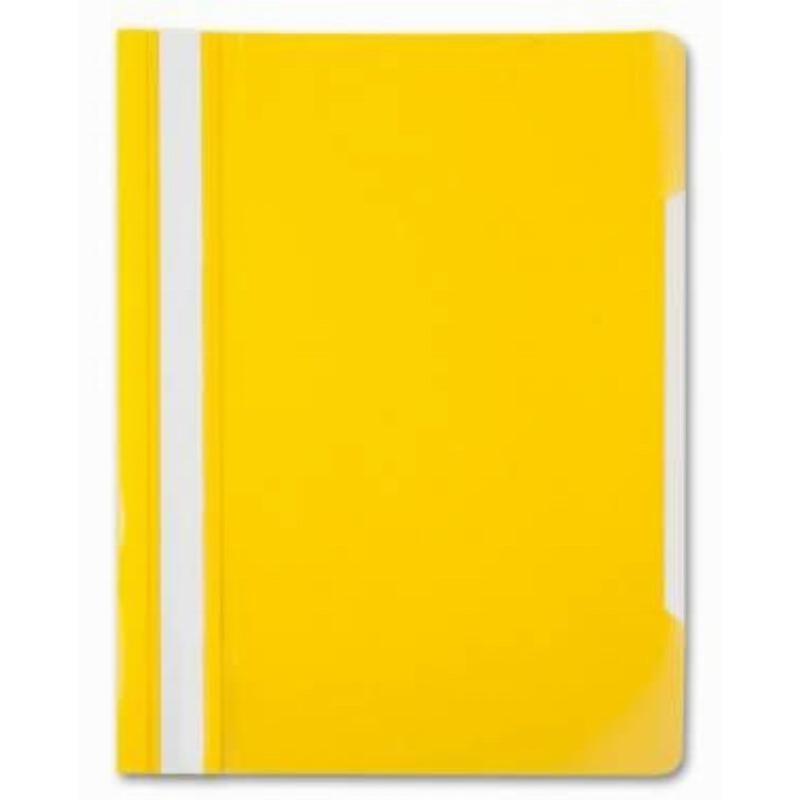 Папка с прозрачным верхним листом Бюрократ 120мкм желтая