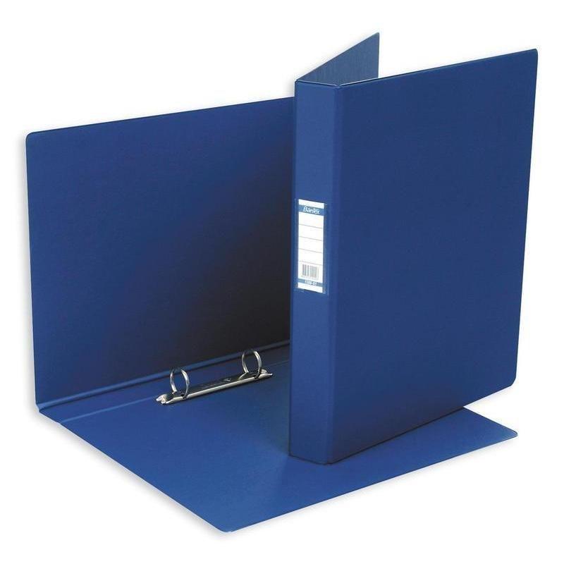 Папка на 2-х кольцах картон/ПВХ 35мм Bantex тёмно-синяя