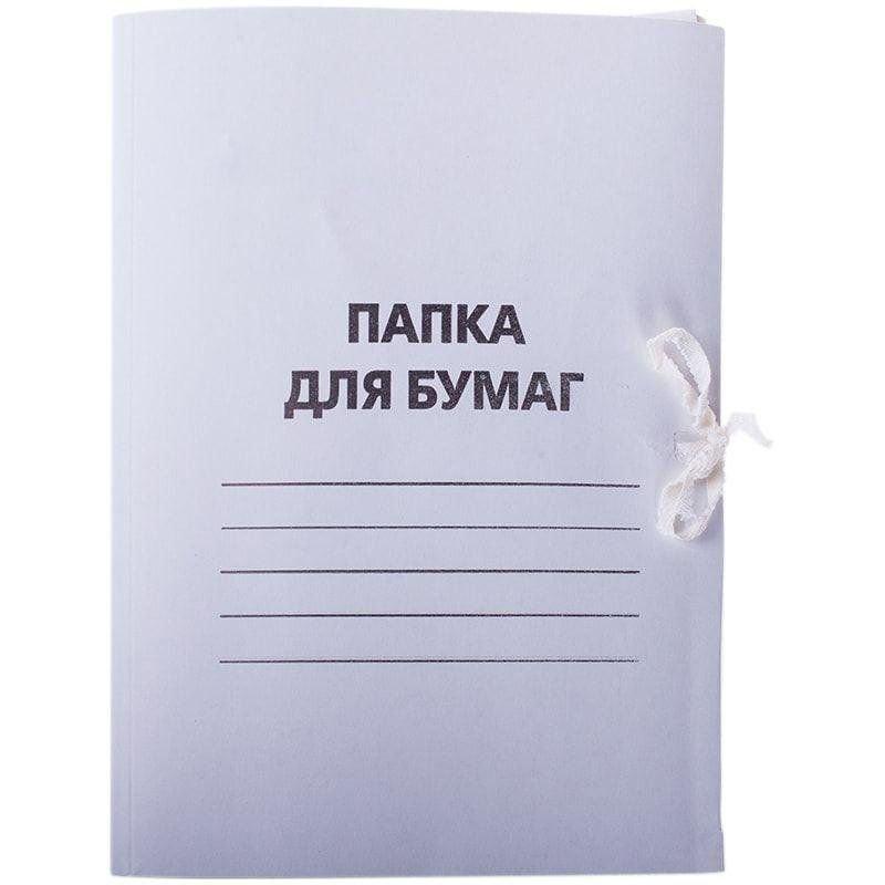 Папка картонная с завязками 300г/м2 мелованный картон OfficeSpace