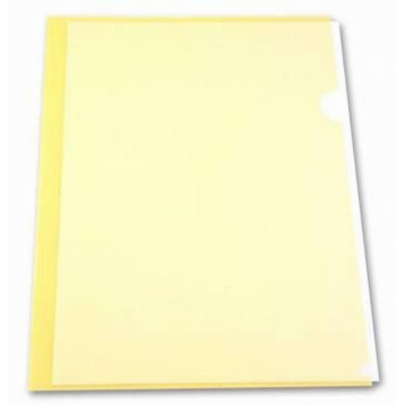 Папка-угол (карман) Бюрократ 0,15мм прозрачная желтая