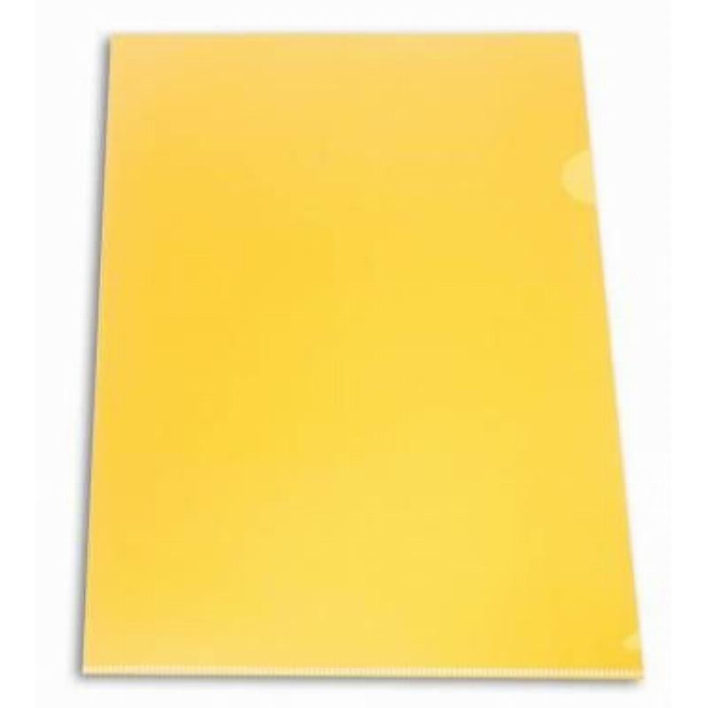 Папка-угол (карман) Бюрократ 0,18мм плотная непрозрачная желтая
