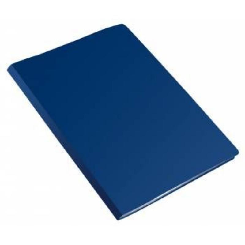 Папка-скоросшиватель с пружиной Бюрократ Эко синяя