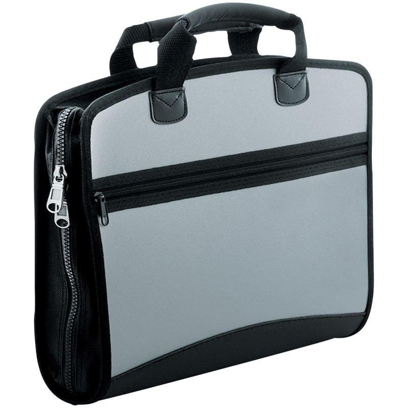 Портфель пластиковый 4-отд Berlingo Silver A4 380*280*50мм 700мкм серый металлик