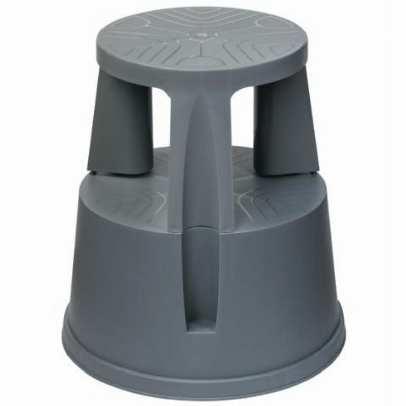 Лестница-тумба 43см 2 ступ передвижная пластик вес 2,8кг серая