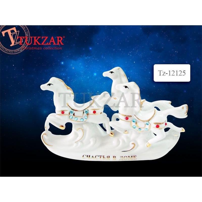 Статуэтка фарфоровая Тройка лошадей 14*8см