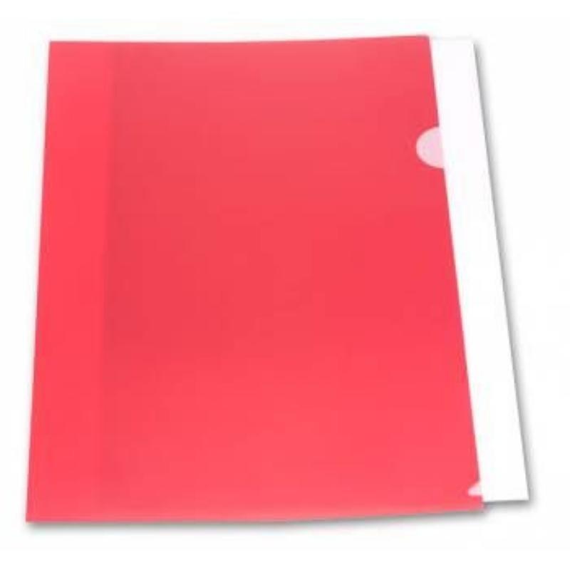 Папка-угол (карман) Бюрократ 0,18мм плотная непрозрачная красная