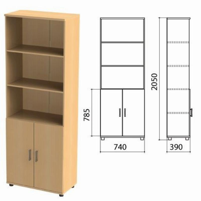 Шкаф полузакрытый Монолит 740х390х2050мм комплект бук бавария