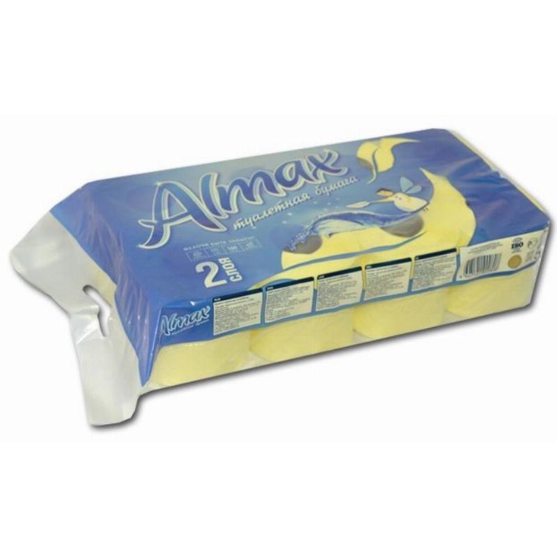 Бумага туалетная Almax 2-сл 8шт/уп зелёная