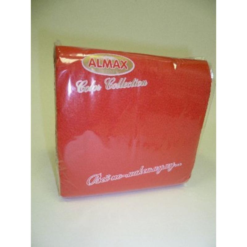 Салфетки 100л Almax Classic 24х24см 1сл красные/розовые