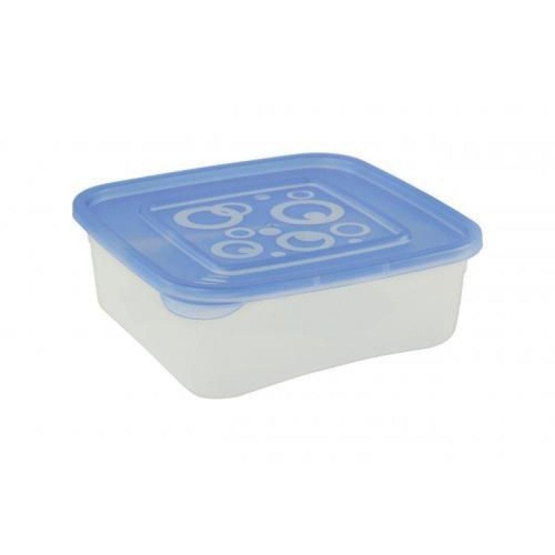 Контейнер для СВЧ 0,4л Квадрат ассорти пластик