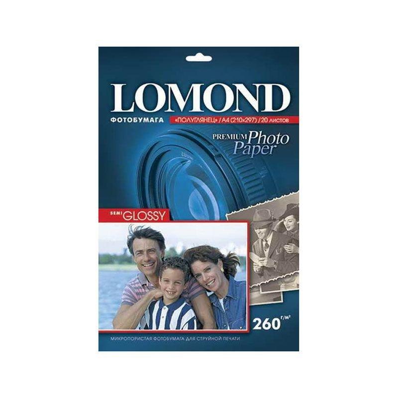 Фотобумага Lomond А4 260г/м2 20л односторонняя полуглянцевая