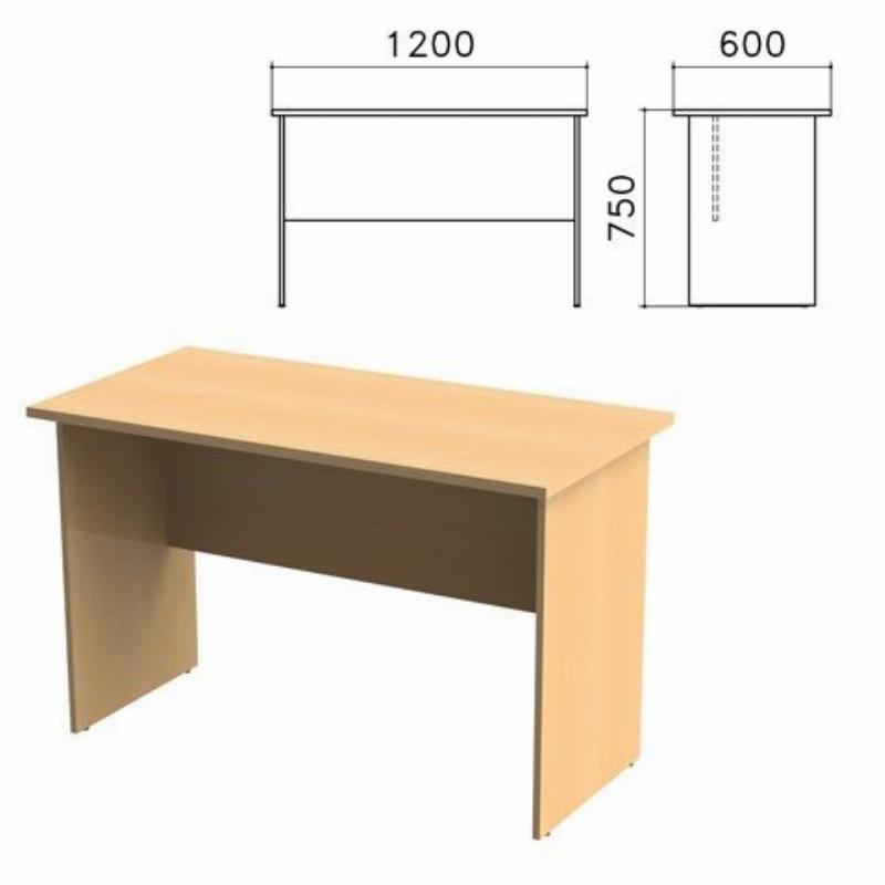 Стол письменный Монолит 1200х600х750мм бук