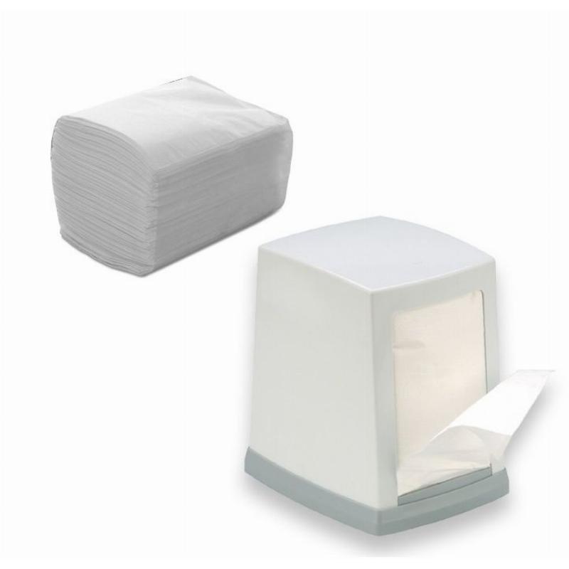 Салфетки 300л Almax Professional 1сл для диспенсера белые