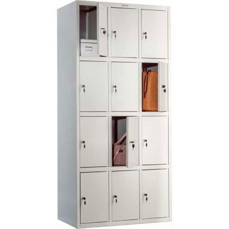 Шкаф металлический для сумок 12 секций Практик LS-34 1830х850х500мм 44кг