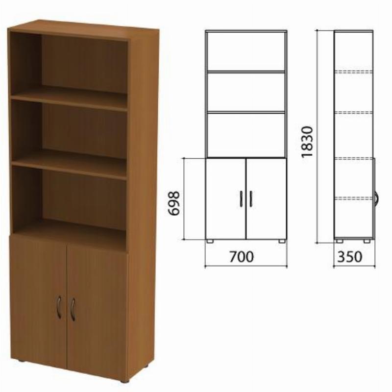Шкаф полузакрытый Канц 700х350х1830мм комплект орех