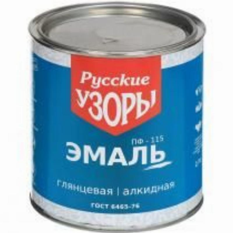 Эмаль ПФ 115 Русские узоры белая 2,7кг