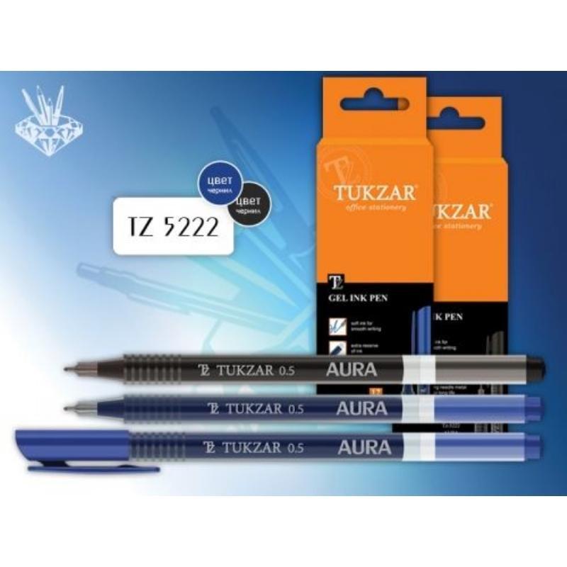 Ручка гелевая Tukzar Aura 0,5мм рельефный держатель непрозрачный корпус синяя