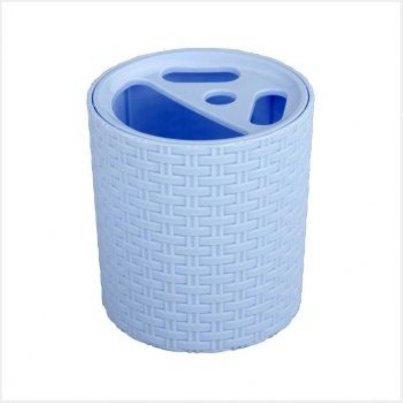 Подставка для зубных щеток Плетенка голубая