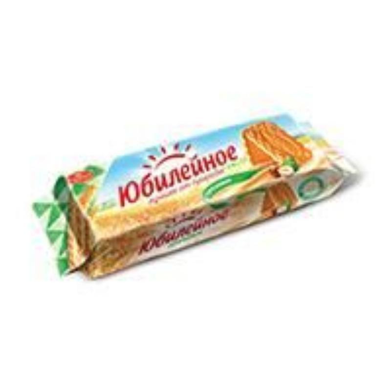 Печенье Юбилейное Ореховое с шоколадной глазурью 116г
