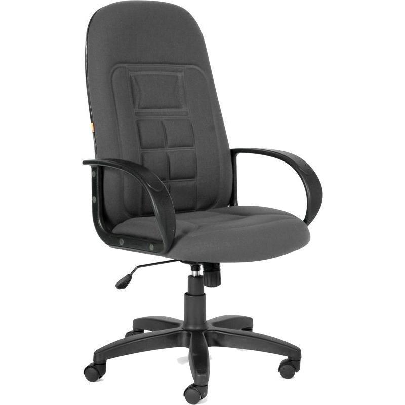 Кресло руководителя Chairman 727 PL с подлокотниками ткань серое