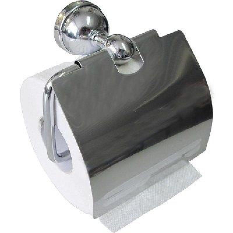 Держатель для туалетной бумаги Solline металлический с крышкой