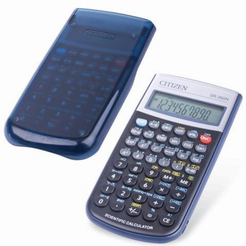 Калькулятор Citizen SR-260N 149х70мм 10+2 разр инженерный