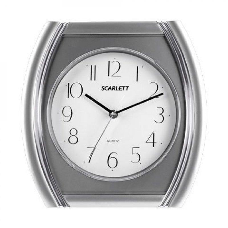 Часы настенные Scarlett SC-55QU четырехугольник белые 421мм