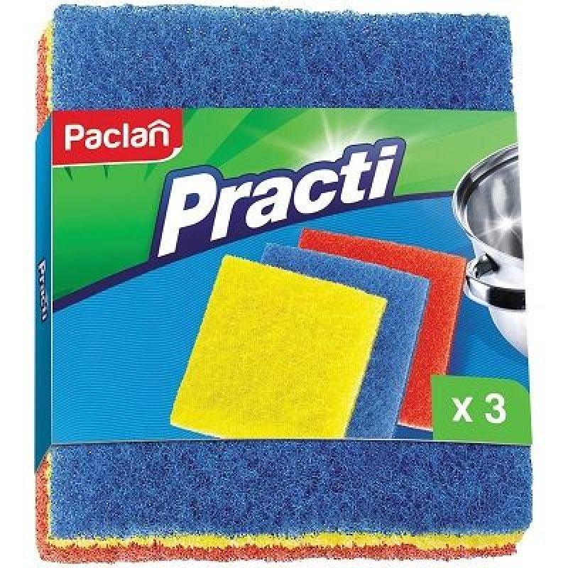 Салфетка 13х15см для посуды Paclan 3шт/уп абразивная