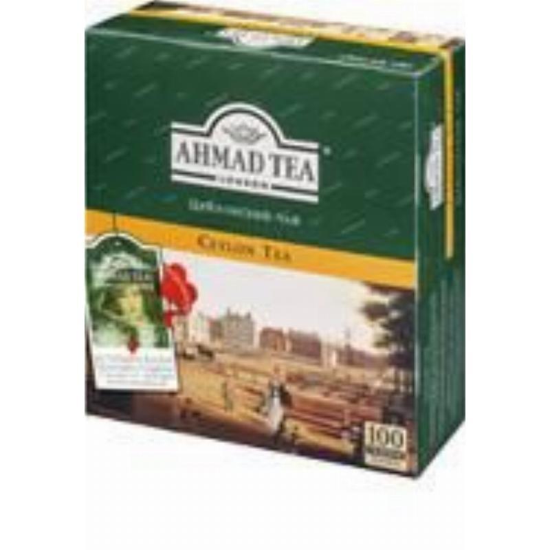 Чай Ahmad Ceylon 100шт в пакетиках черный