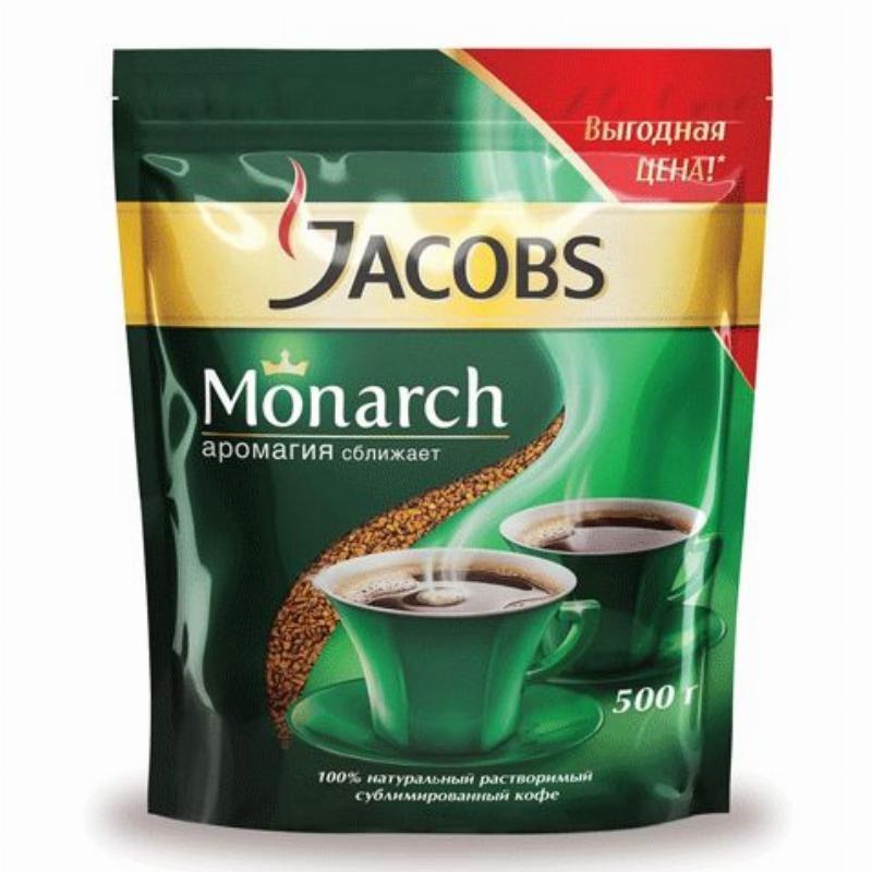 Кофе Jacobs Monarch сублимированный 500г мягкая упаковка
