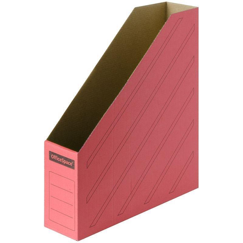 Накопитель документов вертикальный 75мм 700л микрогофрокартон красный 320х250х75мм OfficeSpace