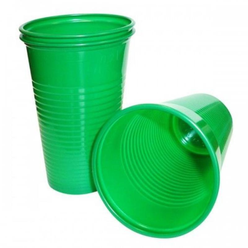 Стакан одноразовый 200мл зеленый Розница