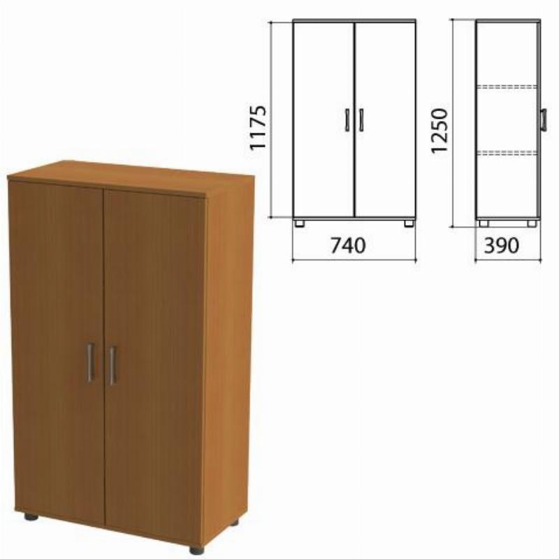 Шкаф закрытый Монолит 740х390х1250мм комплект орех