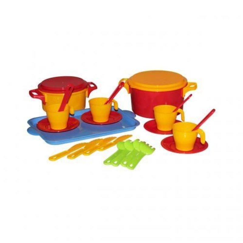 Набор детской посуды Хозяйка столовый 4 персоны пластик