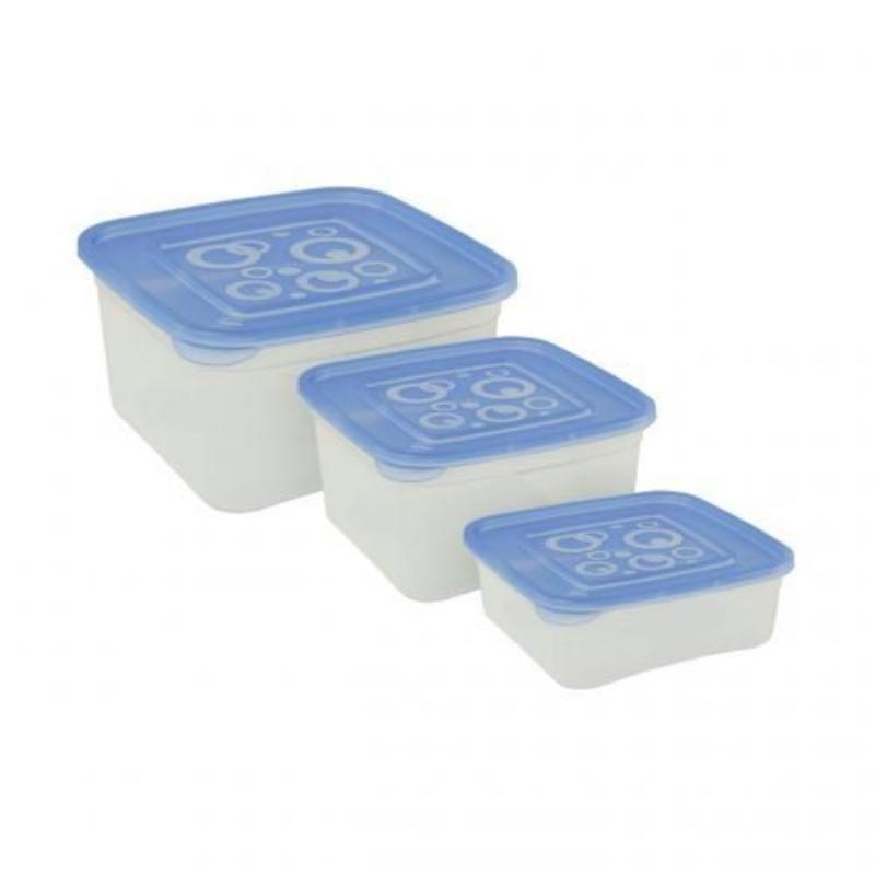 Набор емкостей 3пр Квадрат пластик